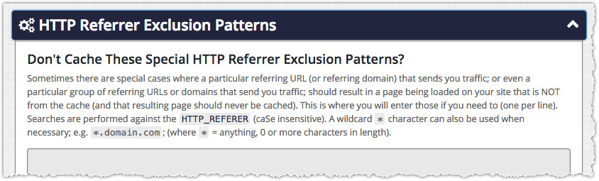 ZenCache HTTP Referrer Patterns
