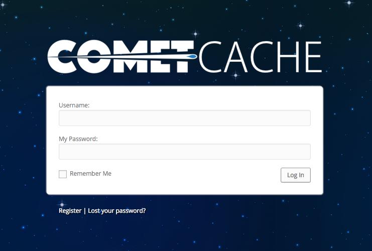 CometCache.com Login