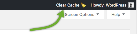 Comet Cache Lite: Clear Cache in Admin Toolbar