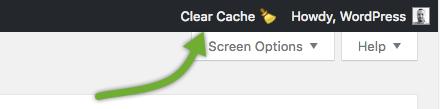 Comet Cache Lite: Clear Cache in Admin Toolbar