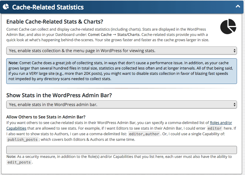 Feature: Cache-Related Statistics
