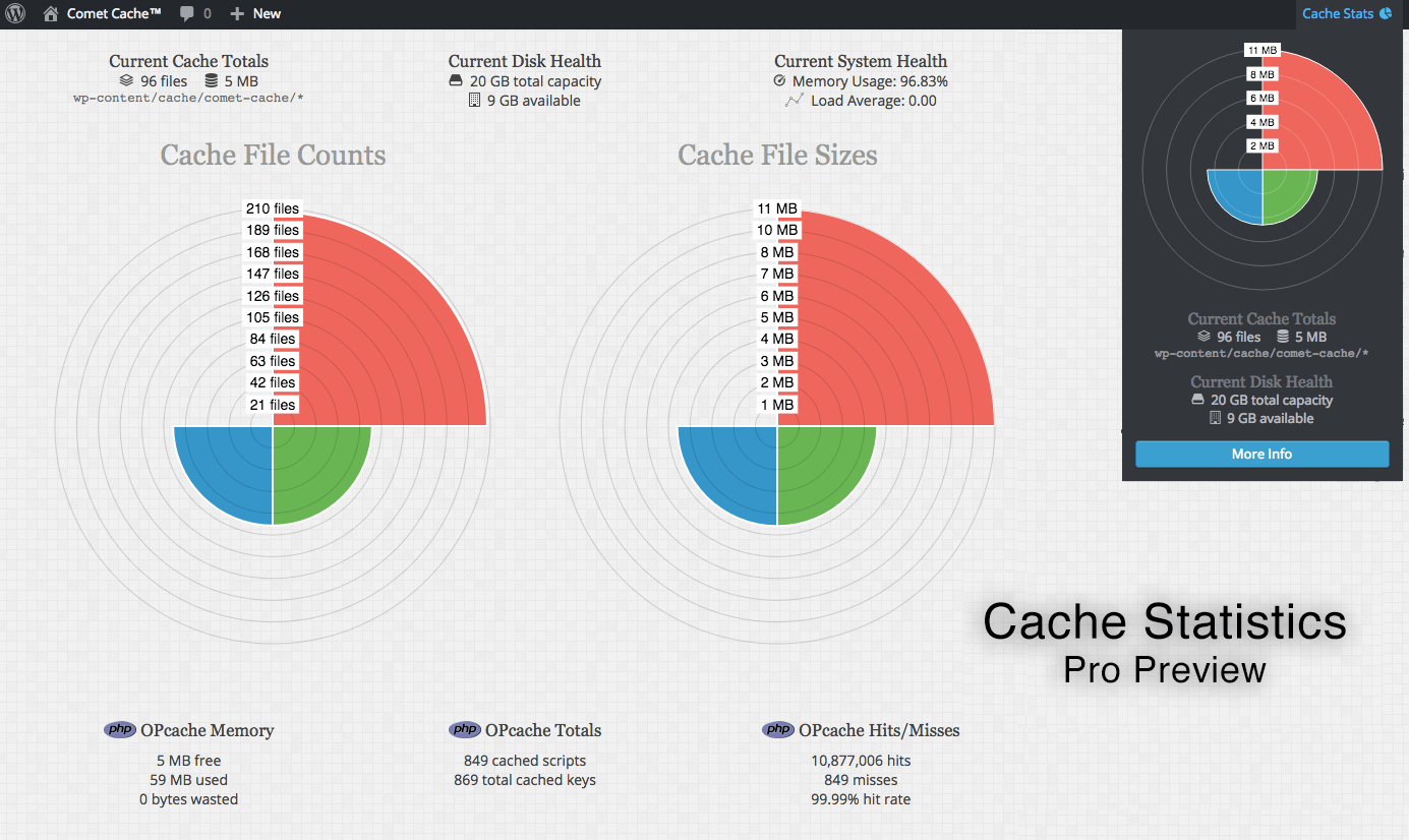 Feature: Cache Statistics Preview