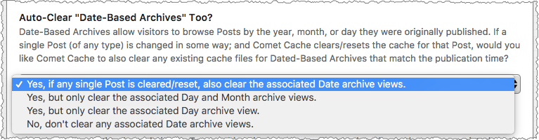 Comet Cache: Auto-Clear Date-Based Archive Views